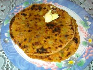 Delicious Aloo Parota