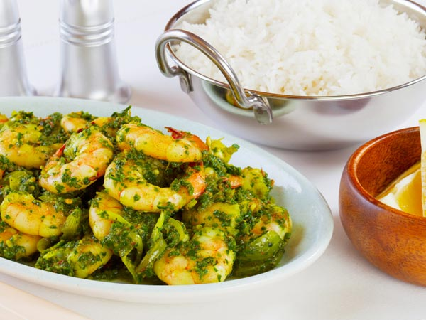 prawn curry with mint