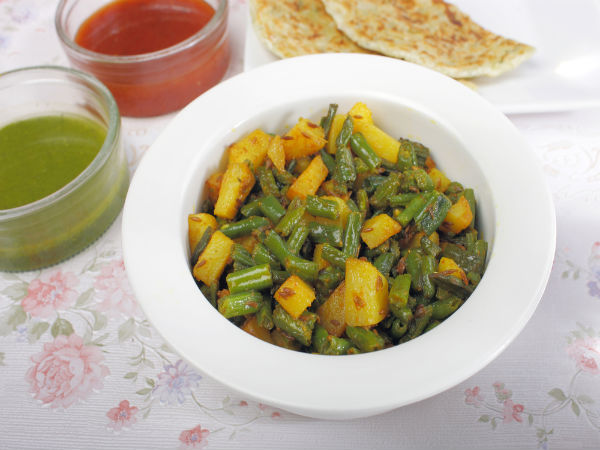 Quick Aloo Beans Sabzi For Working People