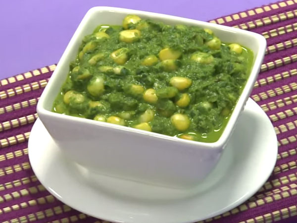 Tasty Malai Corn Palak Recipe