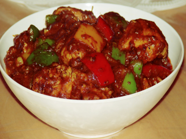 Spicy Pepper Capsicum Chicken Recipe