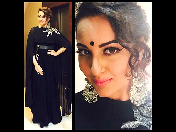 Sonakshi Sinha Dazzles In A Ridhi Mehra Jumpsuit At Bachchan's Diwali Party