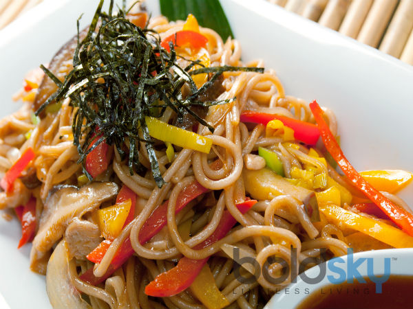 Baby Corn Vegetable Noodles