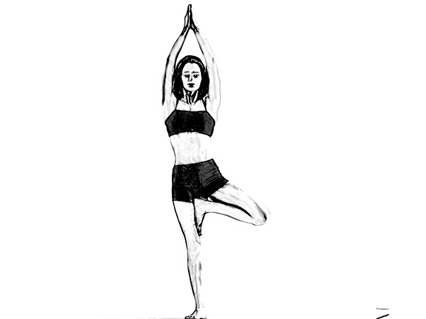 vrikshasana to cure low blood pressure