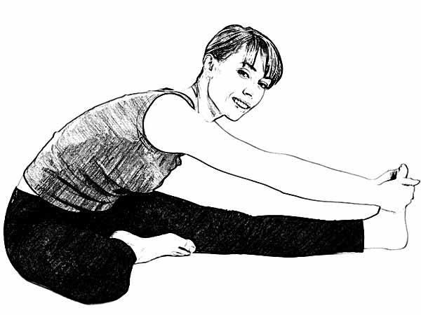 Janu sirasasana for asthma