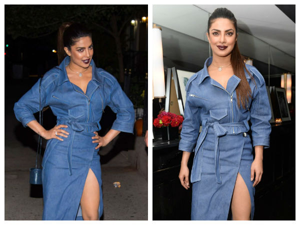 Priyanka Chopra Catching Up With The Dark Lips Trend In New York City