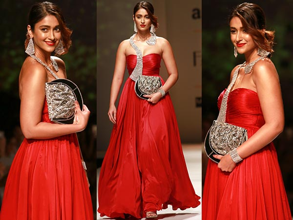 Ileana D'cruz Walks For Designer Kankaria Tapuria AIFWSS 2017