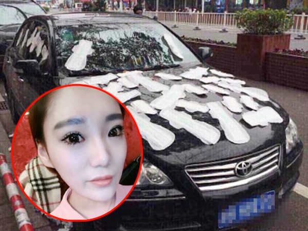Woman Covers Cheating Boyfriend's Car In Period Pads