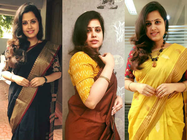 TV Anchor's 100 Days Saree Going Viral On Social Media