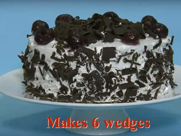 mouth watering black forest cake-recipe for New year and Christmas