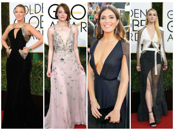 Best Dressed Celebrities At Golden Globe Awards 2017