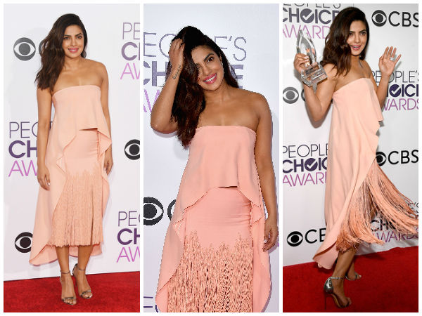 Priyanka Chopra At People's Choice Awards 2017 Red Carpet