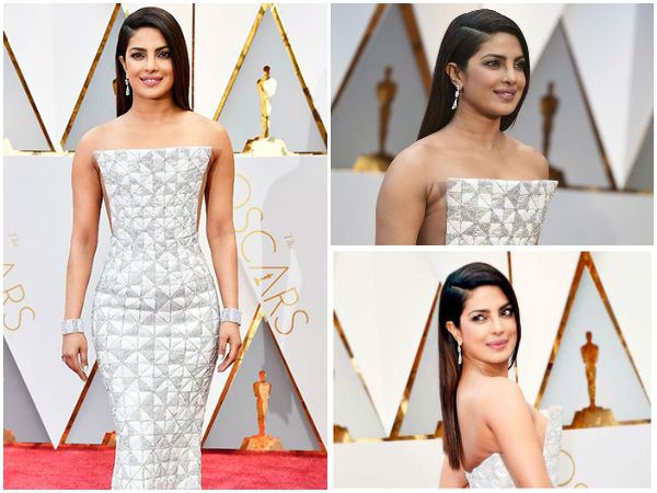 Priyanka Chopra Dresses In White For Oscars 2017