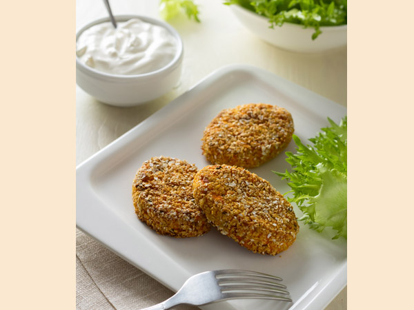 Oats Tikki with Tangy Green Chutney