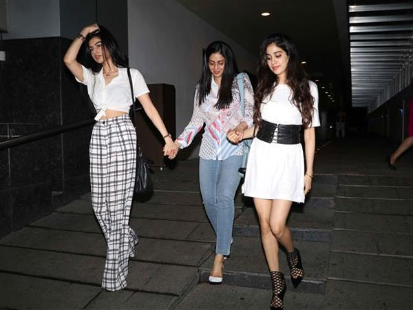 Spotted Sridevi With Daughters Slaying Style