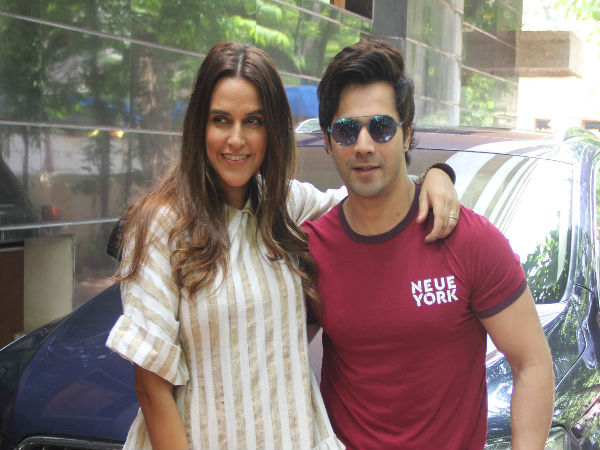 Neha Dhupia And Varun Dhawan Went Cool On The Sets Of No Filter