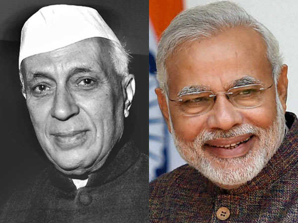 comparison between Nehru and Modi