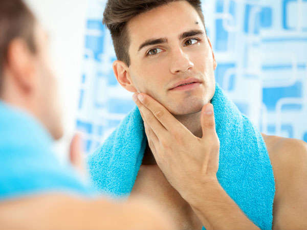 how to get ride of men's oily skin