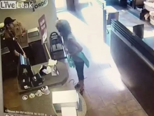 Woman Poops and Throws Feces at Tim Hortan Employee