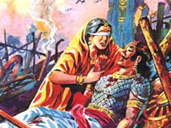 Image result for காந்தாரி துரியோதனன்