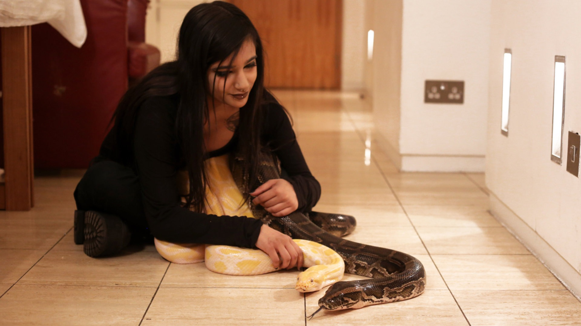 Woman Shares Her Bed With Her 16 ft Python Pet