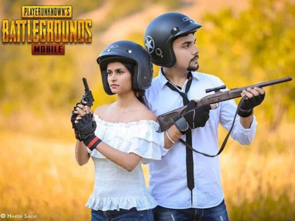 Couple Made PUBG Themed Pre Wedding Shoot!