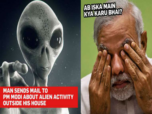 Man Noticed Alien Activity and Write Letter to Modis Office