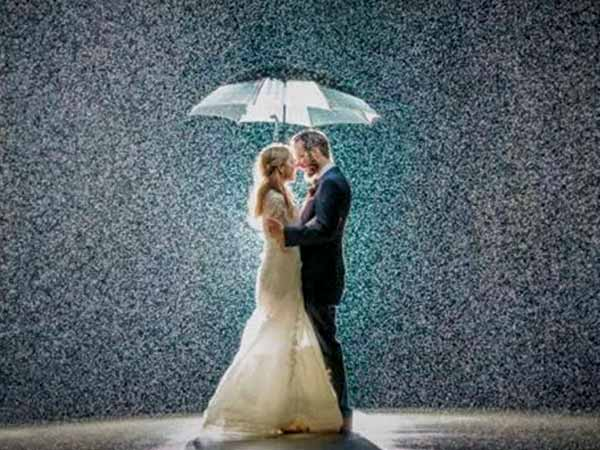 Rain on a wedding day is good luck or bad luck