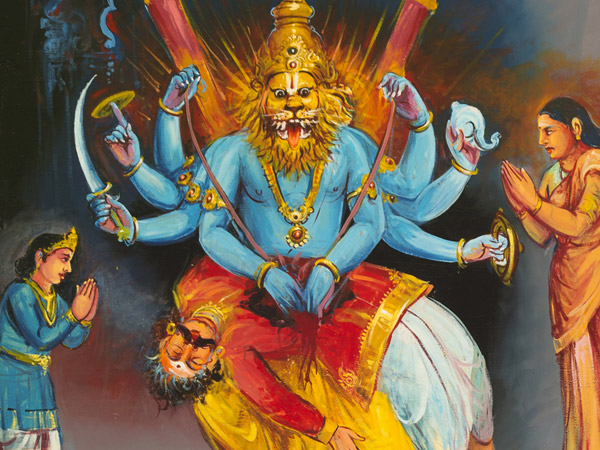 Narasimha Avatar and Prahlad