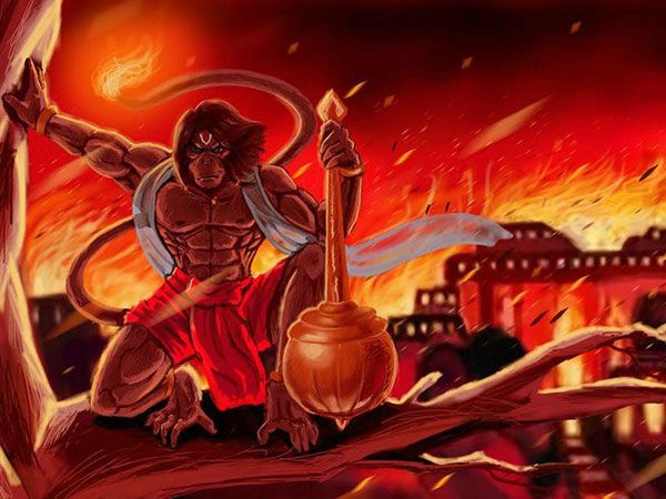 Goddess Parvati had set Lanka on fire