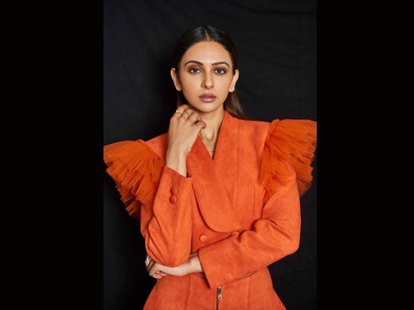 Rakul Preet Singh Sizzles In A Orange Co- Ord Set For The CNBC Event