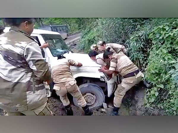 Women Battalion From Nagaland Pushes Car Out Of A Ditch