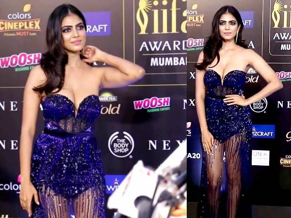 Malavika Mohanan In SPARKLING Blue Gown At IIFA Award
