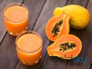 Fresh Papaya Lemon Juice Recipe