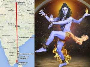 Kedarnath Rameswaram Ancient Siva Temples On Straight Line