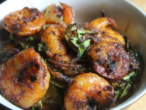 Spicy Prawn Pepper Fry Recipe