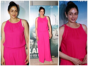 Actress Sridevi Kapoor During The Special Screening Of Irada Movie