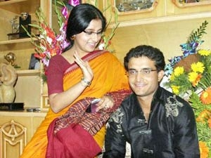 Sourav Ganguly S Hair Raising Style Aid