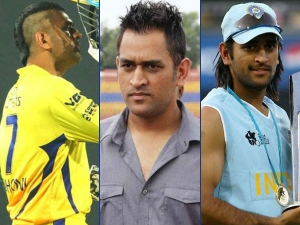 Various Hairstyles Ms Dhoni