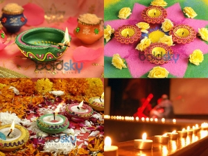 Colourful Diyas Diwali Decoration