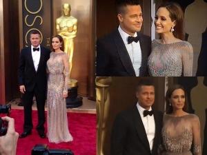 Angelina Jolie Brad At The Oscars 2014 Red Carpet