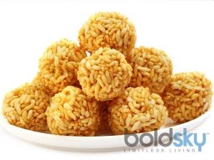 Mouthwatering Mumura Laddu Pori Urundai Recipe Kids