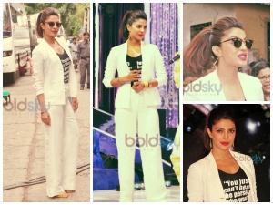 Priyanka Chopra White Armani Suit