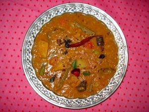 Varutharacha Sambar Onam Special Recipe