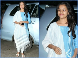 Actress Sri Divya At Vellaikaara Durai Audio Launch
