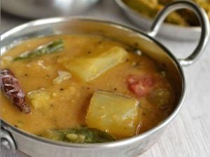 Raw Mango Sambar Recipe