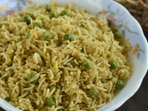 Coconut Milk Peas Biriyani Recipe Tamil