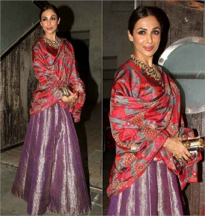 Malaika Arora Khan S Hot Sizzling Looks A Raw Mango Lehenga