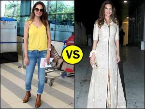 Celebrity Wardrobe Clash Esha Gupta S Western Versus Indo Western Look