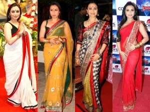 Five Best Bordered Sarees Of Rani Mukerji